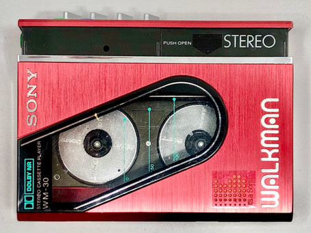 Sony Walkman WM-30 Red Portable Cassette Player