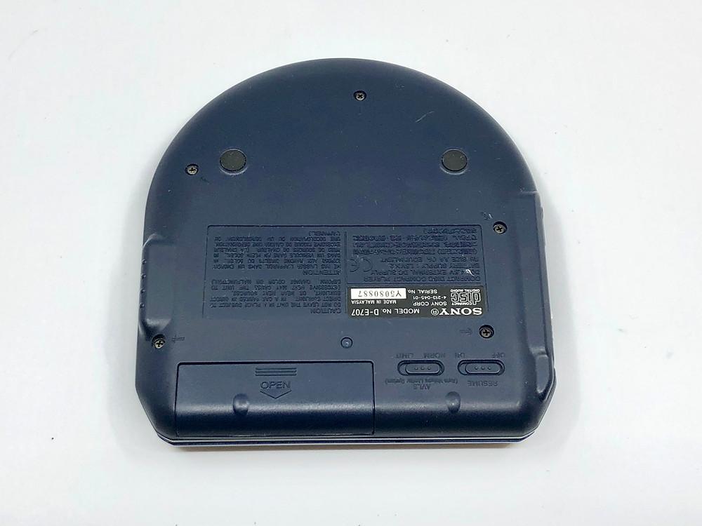 Sony CD Walkman D-E707 Dark Blue Portable CD Player