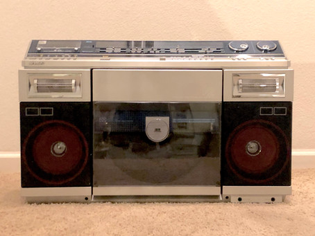 Sharp VZ-V20 Boombox with Fully Automatic Turntable