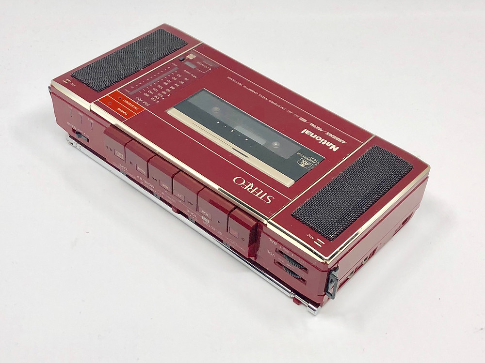 National RX-F40 Red Radio Cassette Recorder