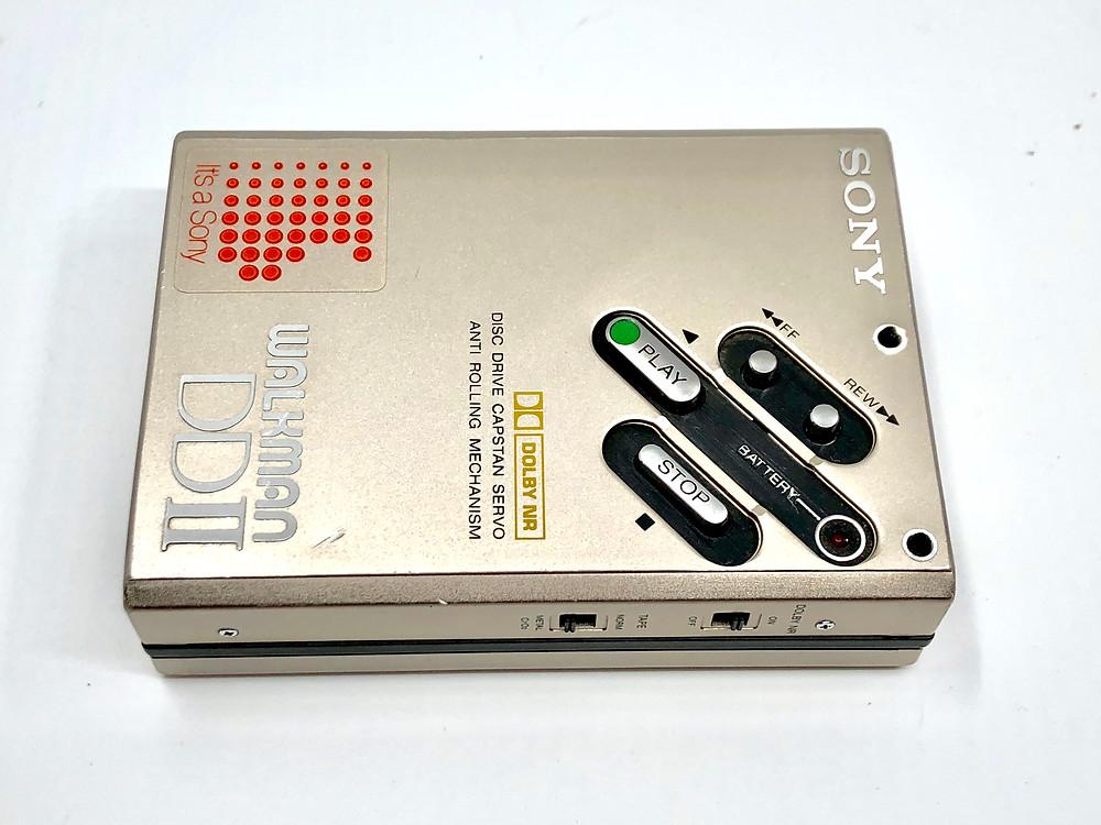 Sony Walkman WM-DDII Champagne Portable Cassette Player