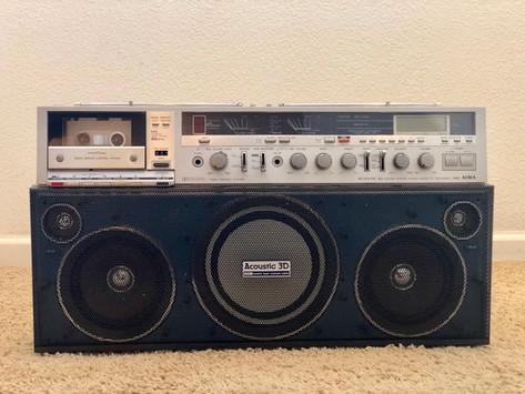 Aiwa CS-J88BL Radio Cassette Recorder Boombox