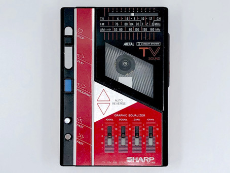 Sharp JC-N6 Red Portable Cassette Player with EQ
