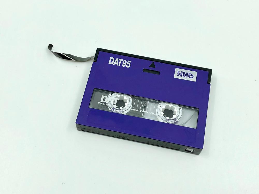 A broken DAT Cassette Tape
