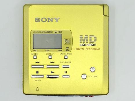 Sony MZ-R55 Yellow MiniDisc Recorder