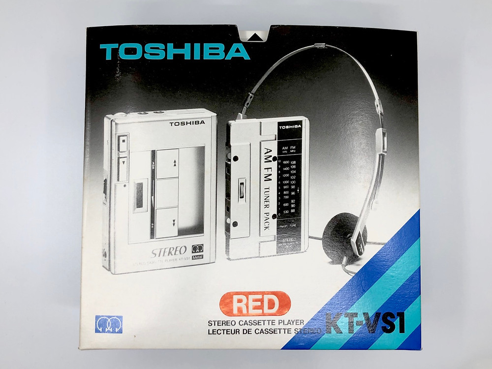 Toshiba KT-VS1 Red Portable Cassette Player with AM FM Radio