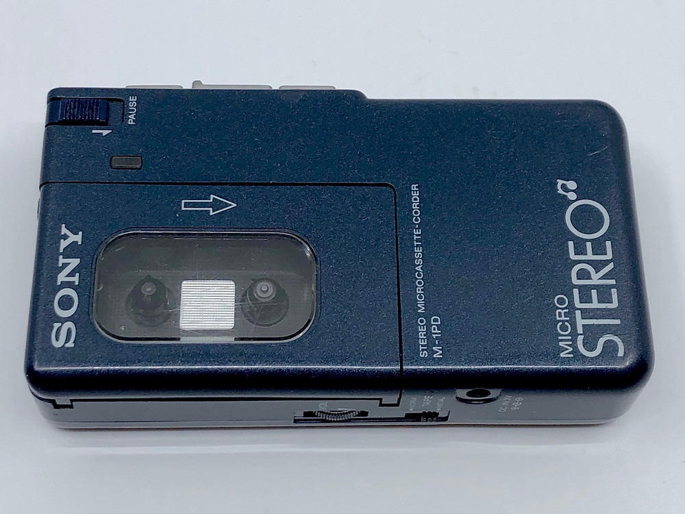 Sony Walkman M-1PD Blue Stereo Microcassette Recorder