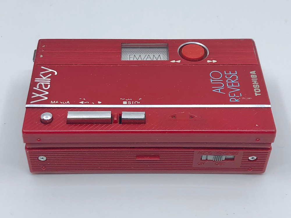 Toshiba KT-AS15 Red Portable Cassette Player