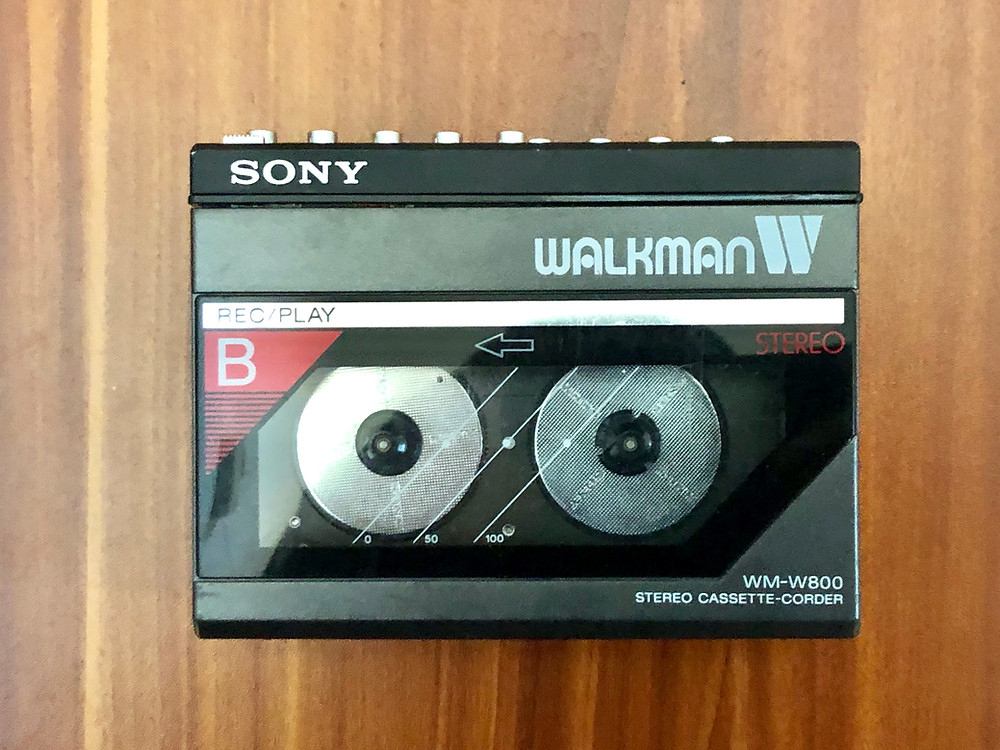 Sony Walkman WM-W800 Red Portable Dual Cassette Recorder