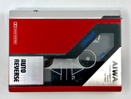 Aiwa HS-P7 Red Portable Cassette Player