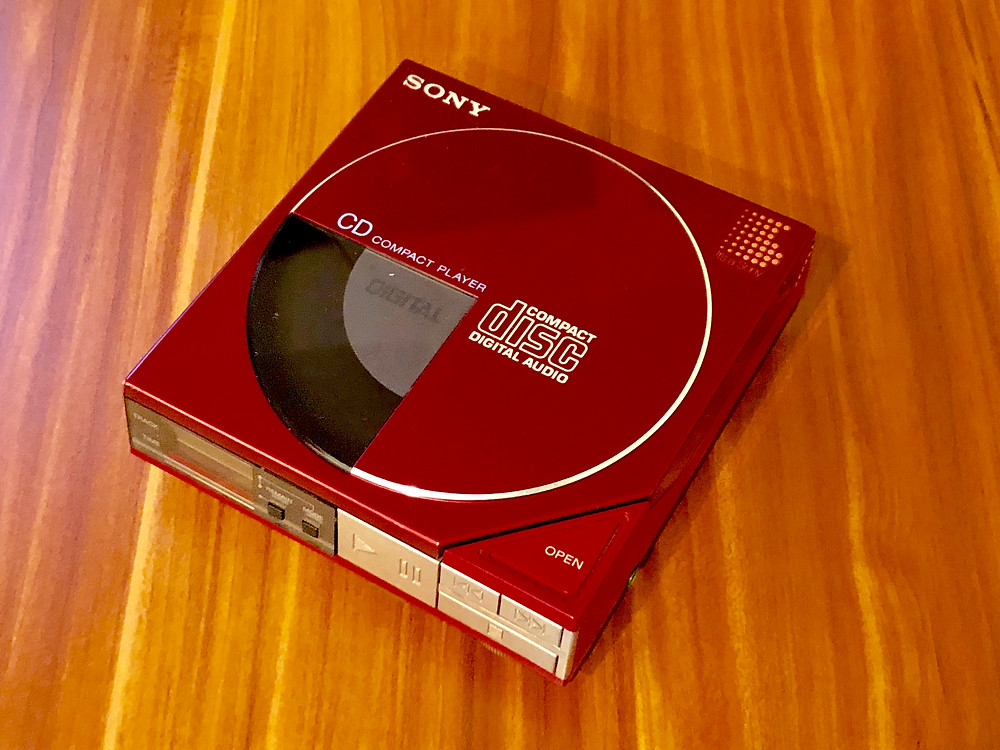 Sony Discman D50 Red Portable CD Player