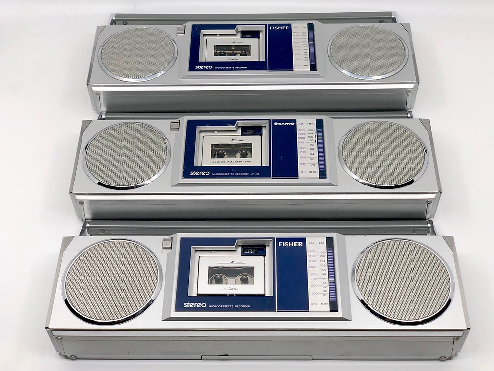 Microcassette Mini Boomboxes