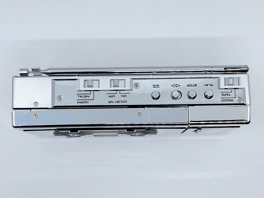 Pioneer PK-F9 Portable Cassette Player in Chrome