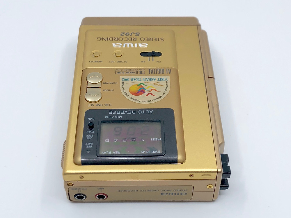 Aiwa HS-SJ92 Gold Portable Cassette Recorder Visit Asian Year 1992 Special Edition