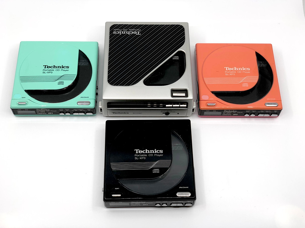 Technics SL-XP3 Series Multiple Color Portable CD Player