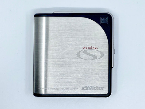 JVC Victor XM-P77-B MiniDisc Player with Stainless Steel Body