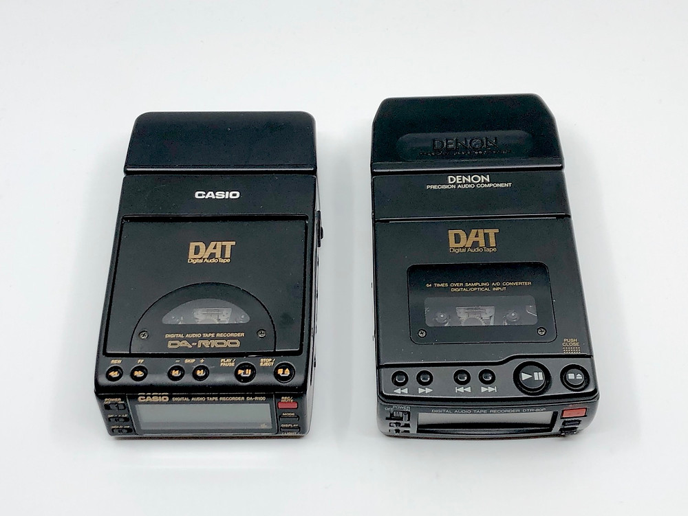 Casio DA-R100 and Denon DTR-80P Portable DAT Recorders