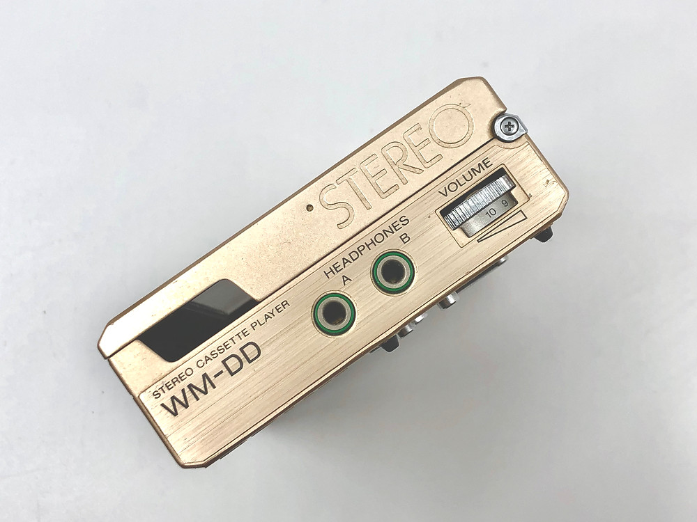 Sony Walkman WM-DD Gold Champagne Portable Cassette Player