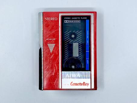 Aiwa CassetteBoy HS-P6 Red Portable Cassette Player