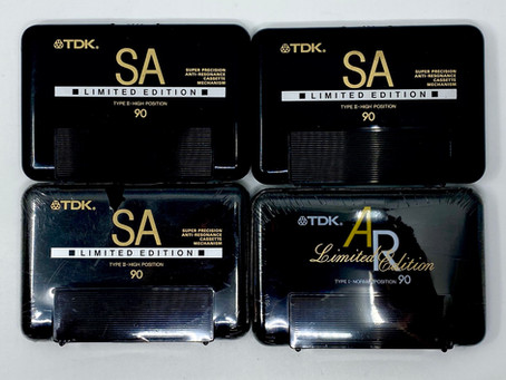 TDK Limited Edition AR SA Blank Cassettes