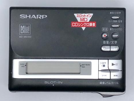 Sharp MD-MS100 MiniDisc Player Black