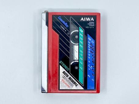 Aiwa CassetteBoy HS-U7V Red Portable Cassette Player