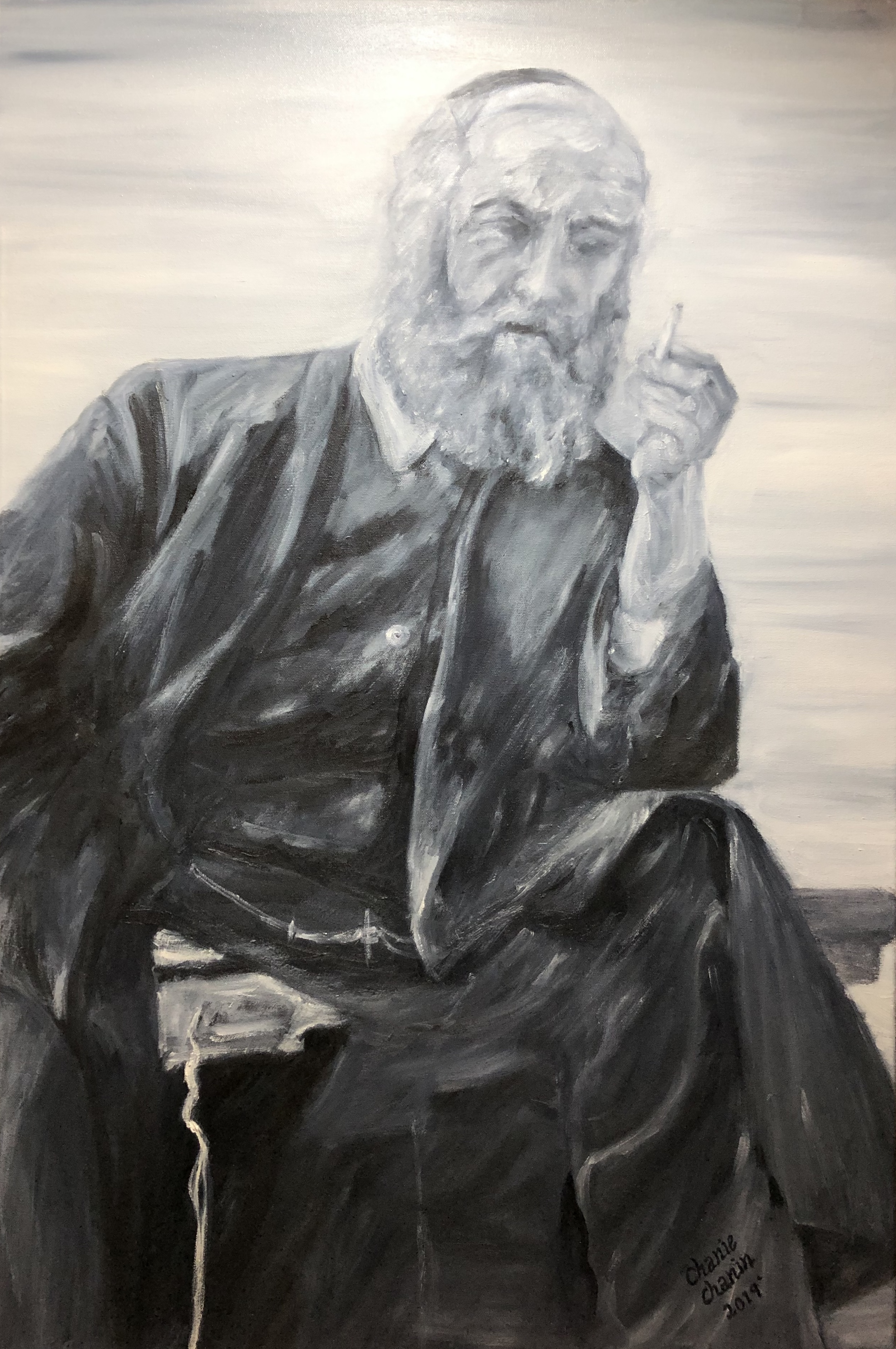 Rebbe - deep in thought