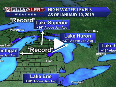 Great Lakes Water Levels Continue Rising, More Records Expected In 2020