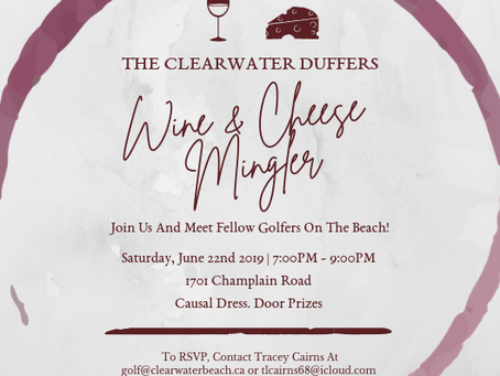 Clearwater Duffers Wine & Cheese Mingler