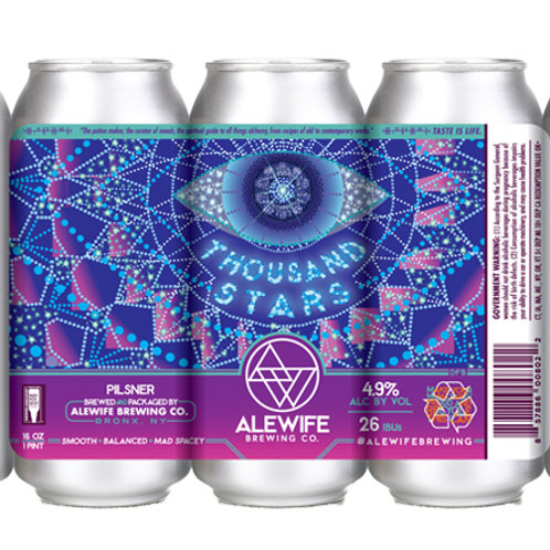 Thousand Stars Pilsner - 4.9% - 16 oz cans - 4-pack