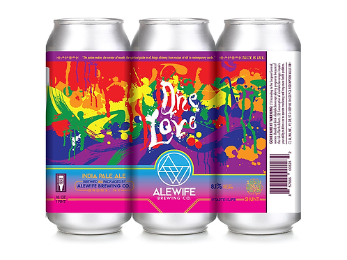 One Love IPA - Double Hazy IPA - 8.1% - 16 oz cans - Case