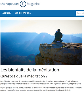 Thérapeutes Magazine Méditation