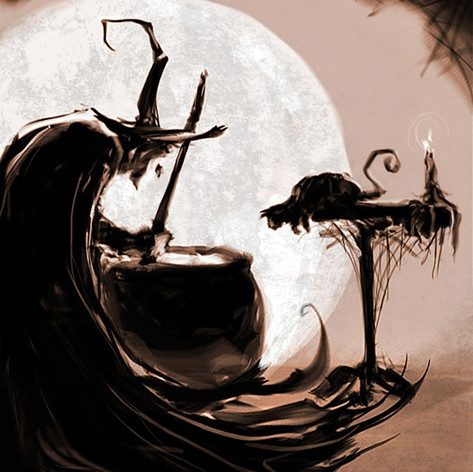 Witch and Cat skecth