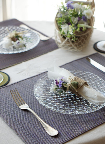 Igusa, Japanese placemat, iris color