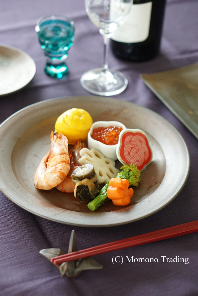 Japanese new year's dish on the Bizen