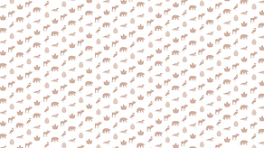 Cabins background with icons of each cabin in brown on a white background (background)