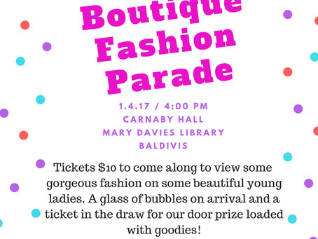 Fashion Parade - This Weekend