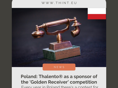 [news] Thalento® as a sponsor of the 'Golden Receiver' competition in Poland