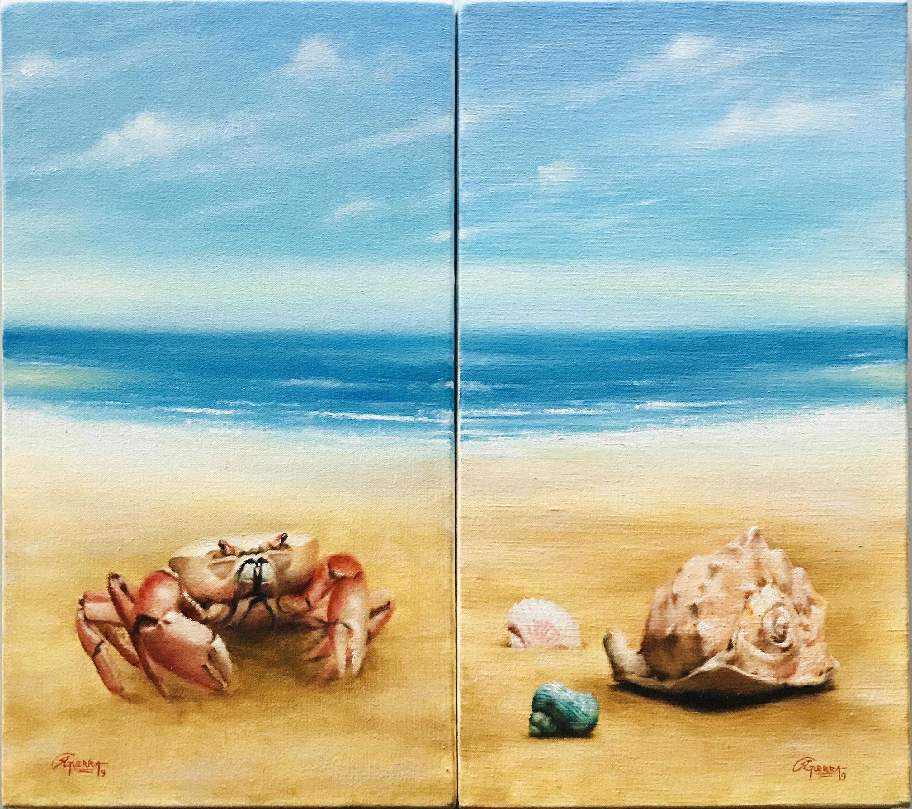 Paisagens de Praia com Carangueijo e Conchas, Rafael Guerra