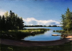 A Lake in Finland During Summer 2, Rafael Guerra Painting