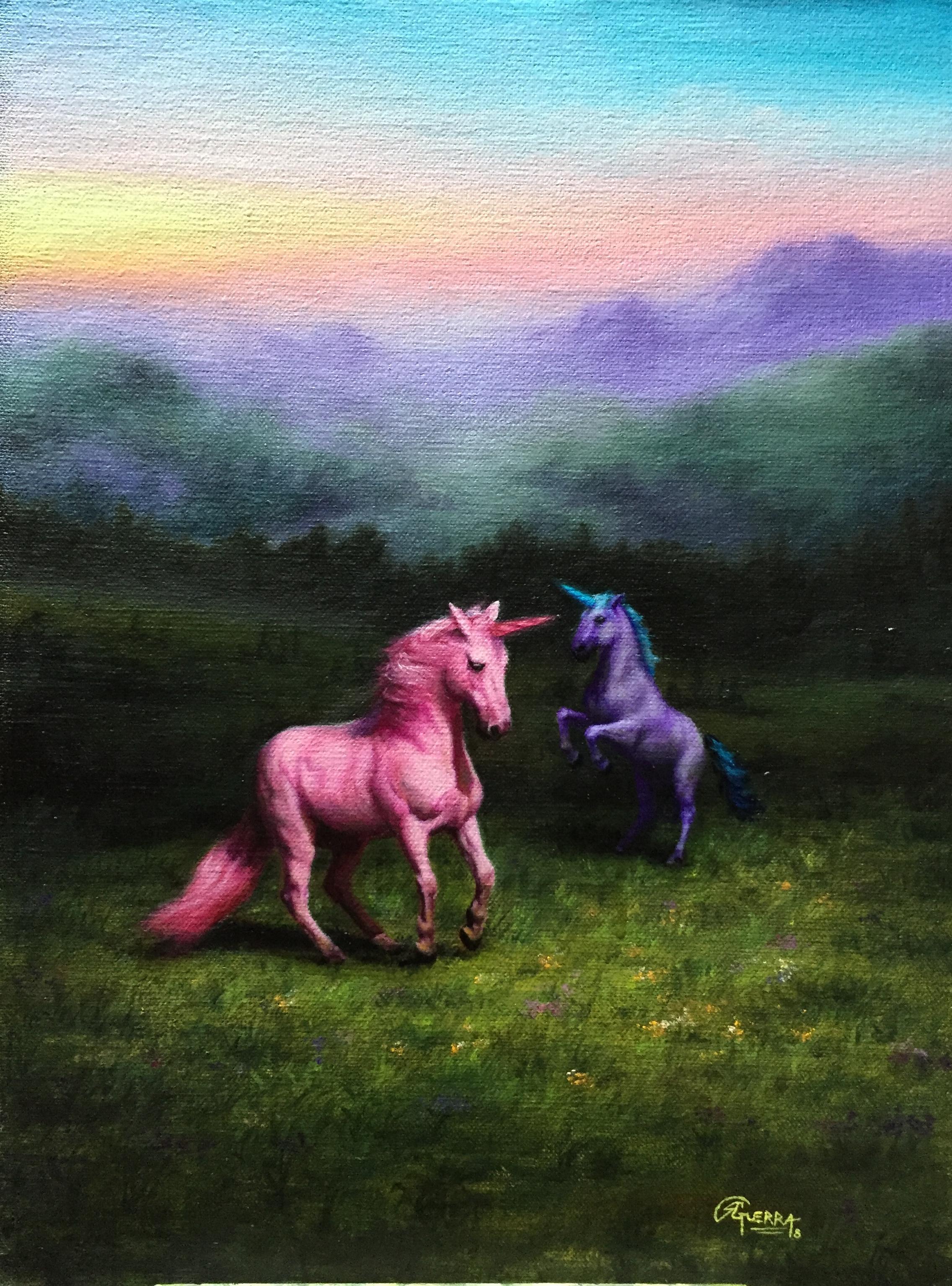 Unicorn Hills (2), Rafael Guerra Painting Pintura