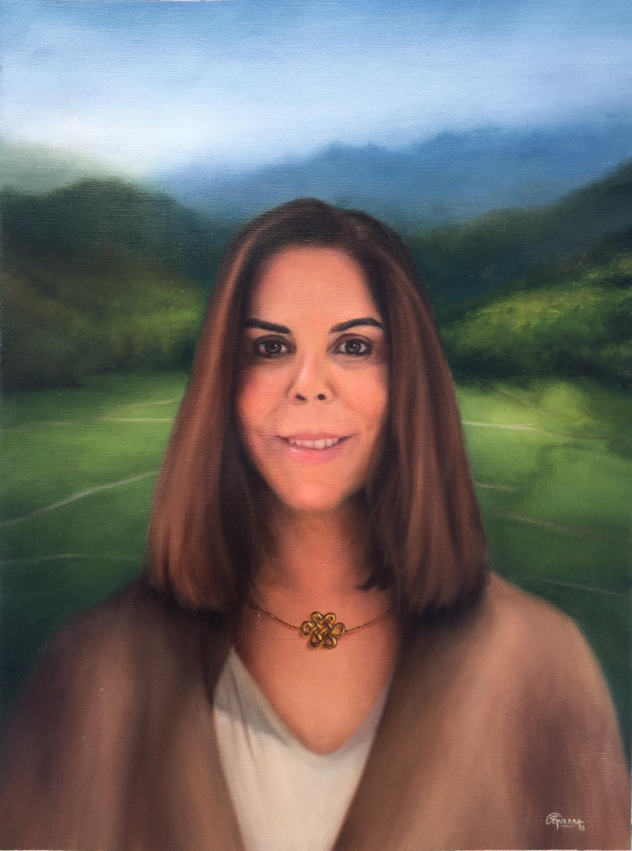 Retrato de Maria Helena, Rafael Guerra Painting Pintura