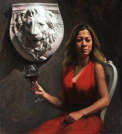 Leonina, Rafael Guerra Painting Pintura