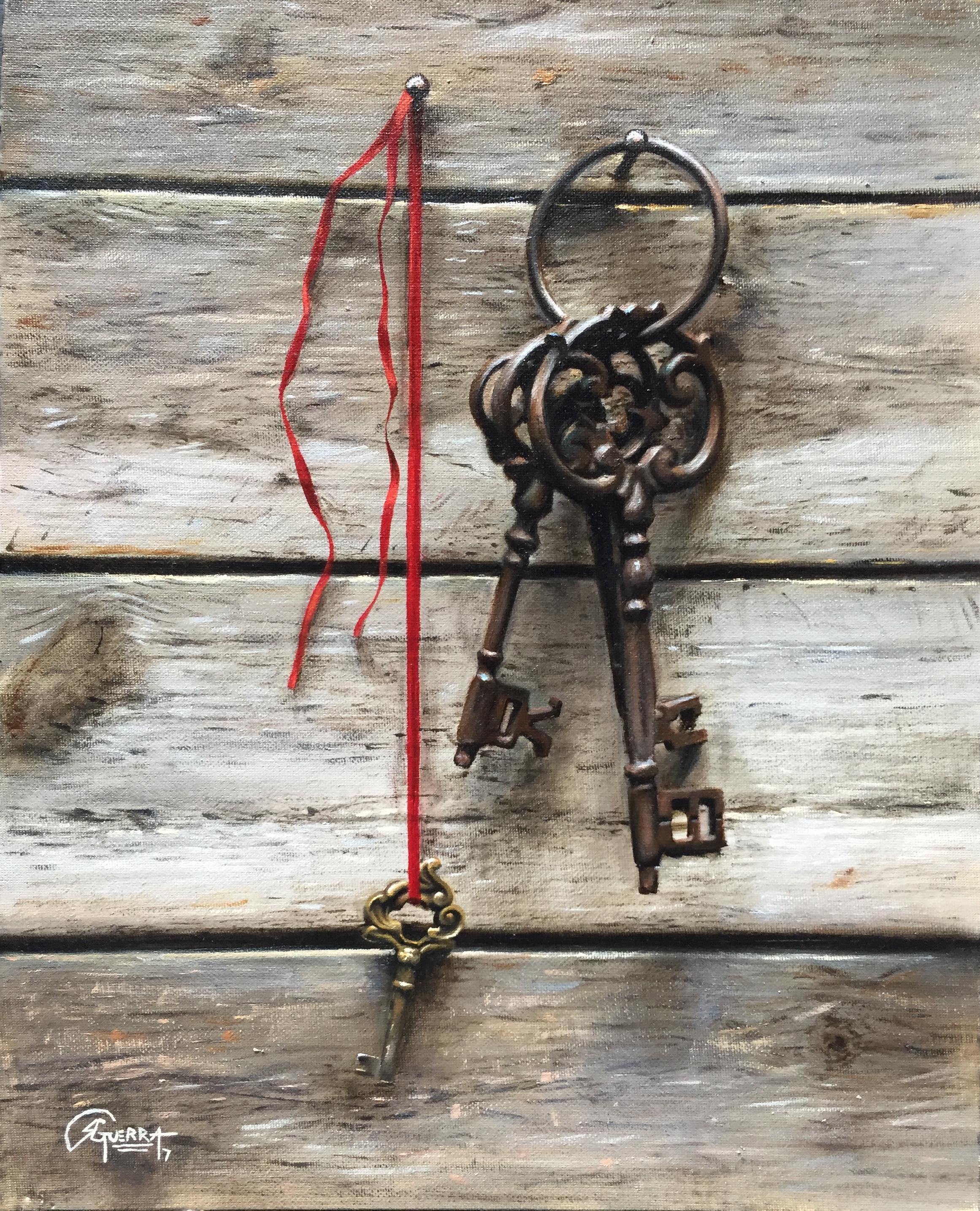 Old Keys 2, Rafael Guerra painting pintura