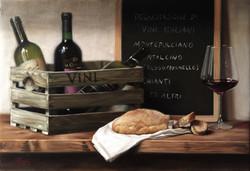 Wine Tasting, Rafael Guerra Painting Pintura