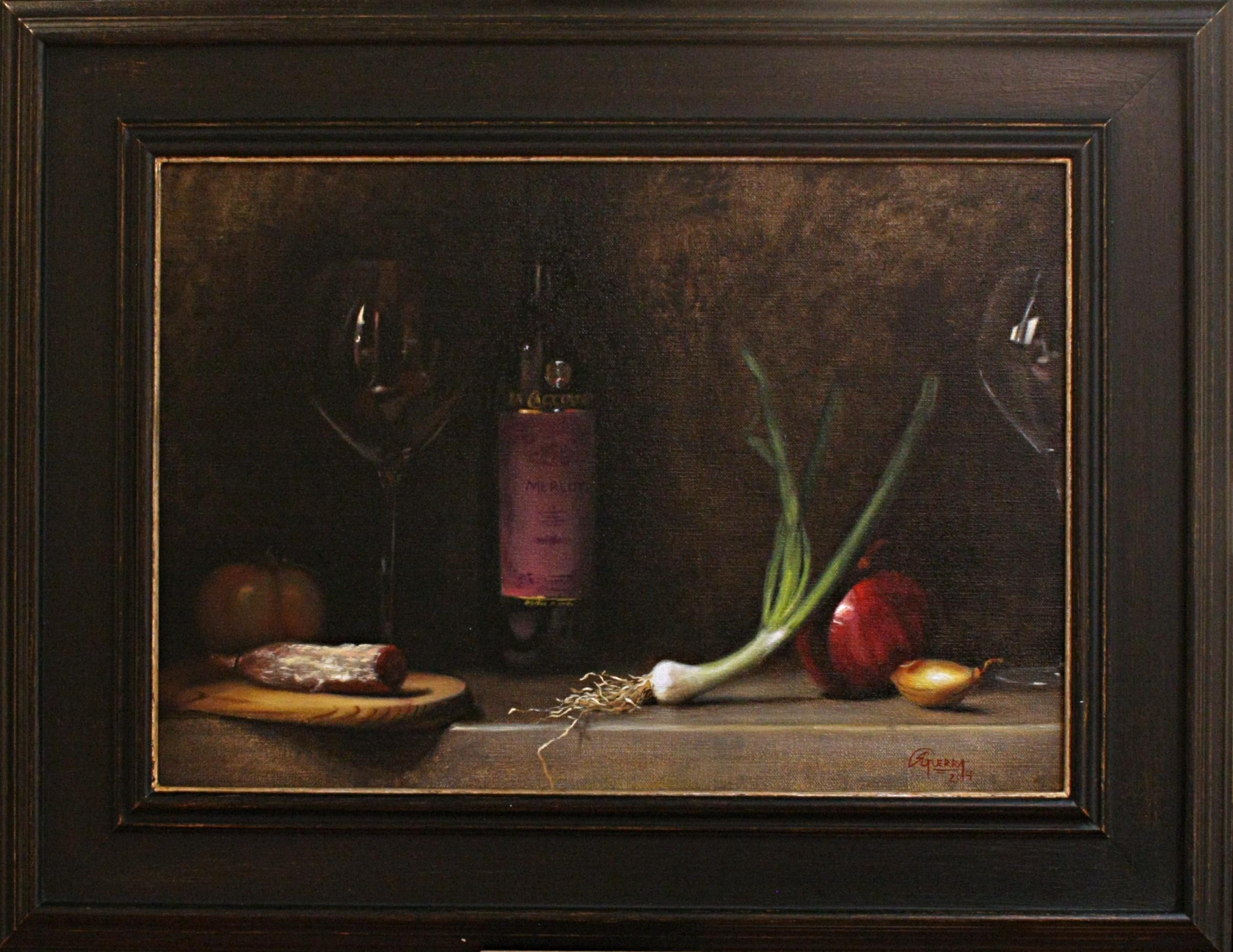 Dinner Invitation, Rafael Guerra Painting Pintura