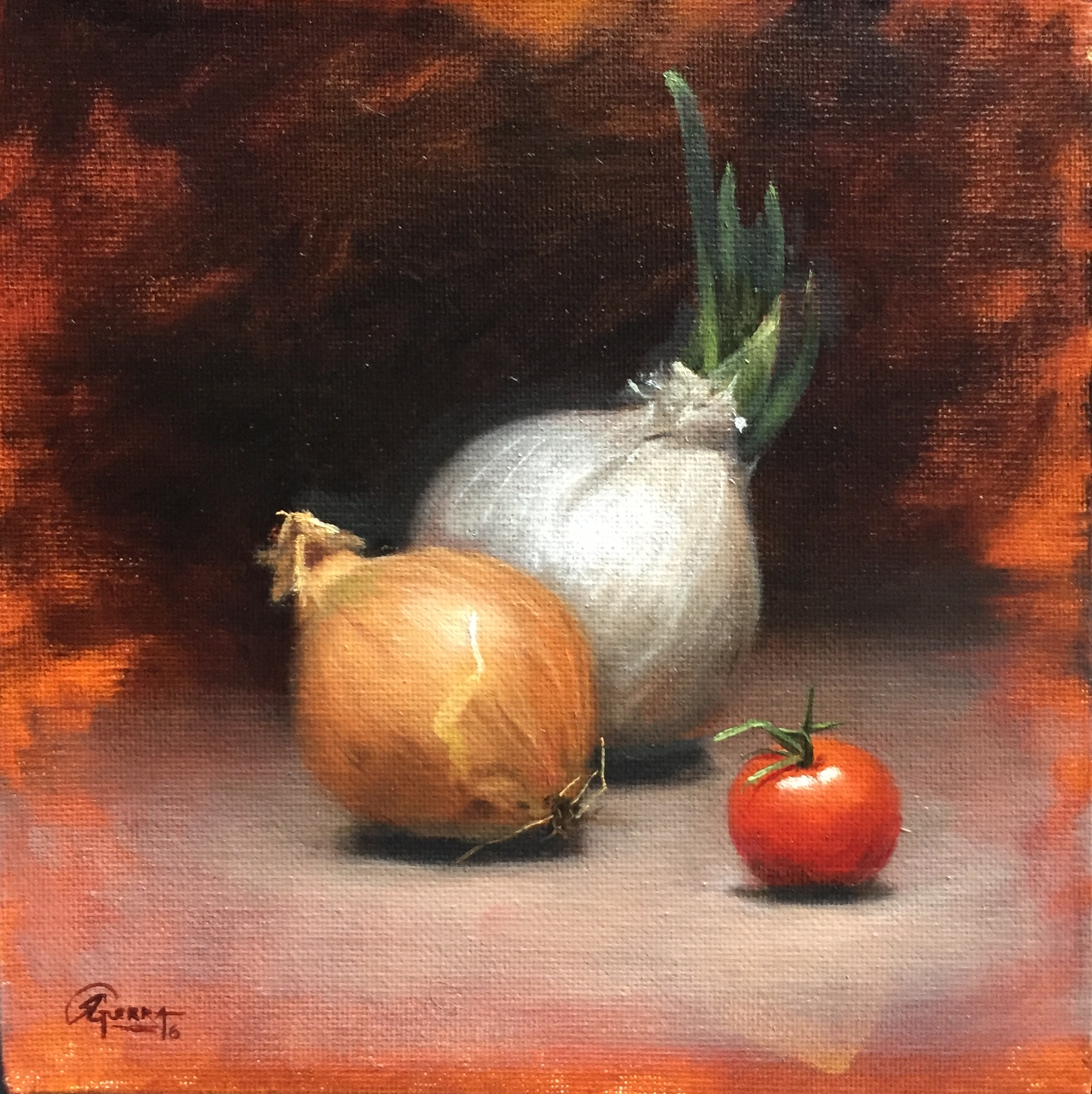 Onions and Cherry Tomatoe