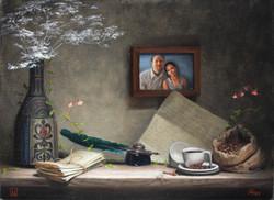 Helka and Pasi, Rafael Guerra Painting Pintura