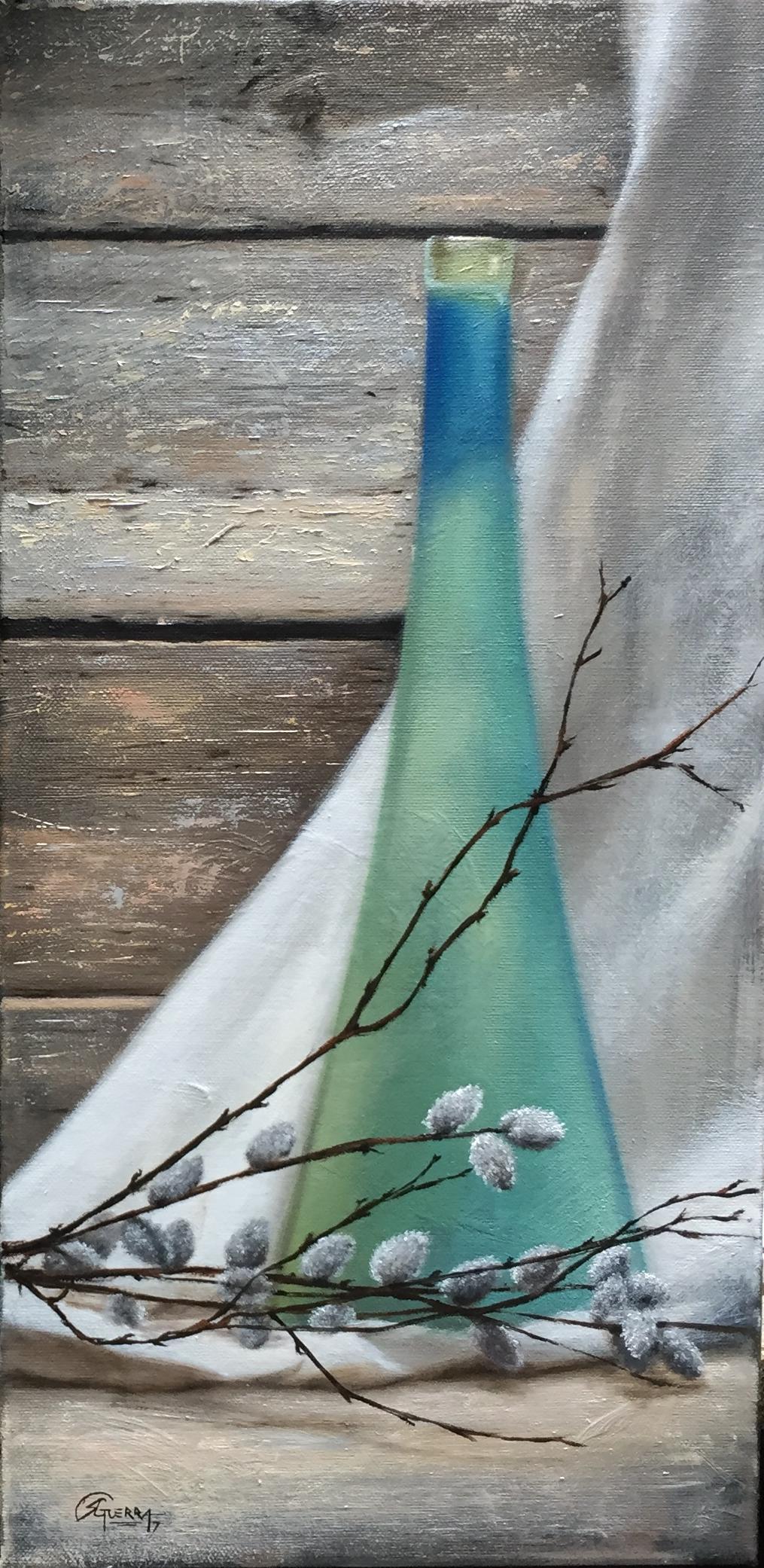 Turquoise Vase, Rafael Guerra Painting