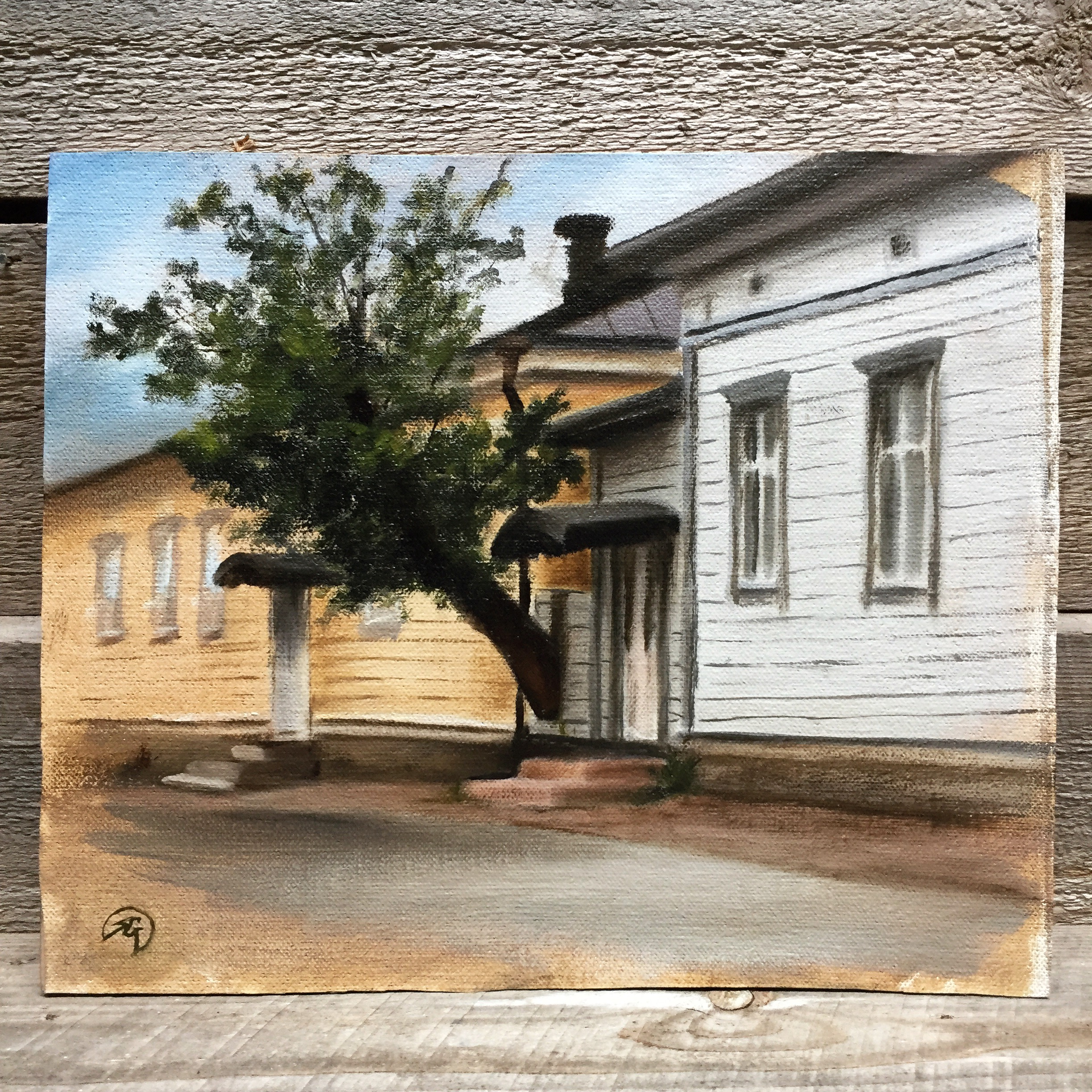 PleinAir Study Old House in Naantali, Rafael Guerra Painting Pintura